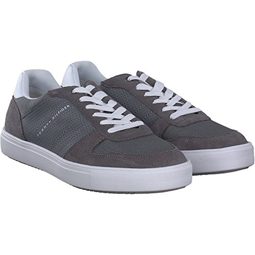 Tommy Hilfiger Lightweight Material Mix Sneaker, Sneakers Basses Homme Gris (Steel Grey 039)