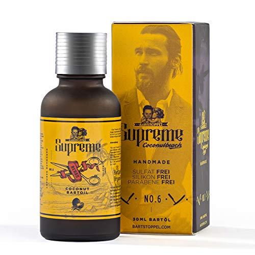 Bartöl Beard Oil Cocos Tropic Kokos Duft von Bartstoppel® | Für weichen geschmeidigen Bart | Pflege für Bart und Haut | Made in Austria | Tierversuchsfrei