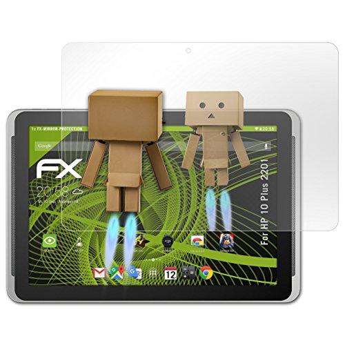 atFolix Displayfolie für HP 10 Plus 2201 Spiegelfolie, Spiegeleffekt FX Schutzfolie