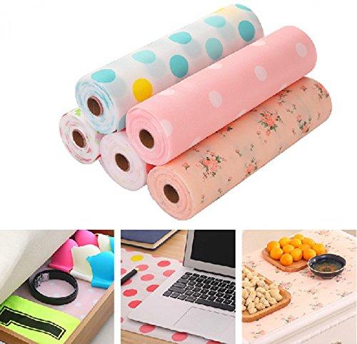 Polly Online Schubladenmatte Wasserdicht Anti-Rutsch Isoliermatte Hitzebeständig Tischset Kann Geschnitten Werden Schrankpapier Nicht klebend (Größe:30cm*500cm)