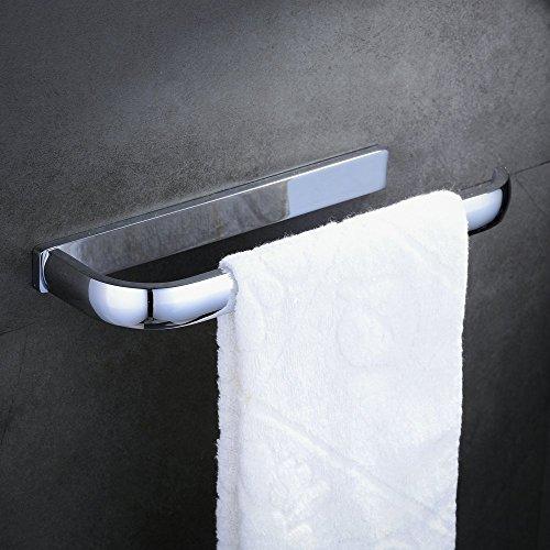Hiendure® 30cm Messing Handtuchhalter extra lang Toilettenpapier -Rack, polierte Chromoberfläche (Bad Handtuchring Messing Poliert)