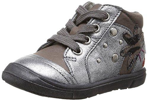 GBB Lorelis, Chaussures Premiers pas bébé fille Gris (Vte Gris/Argent Dpf/Dolly)