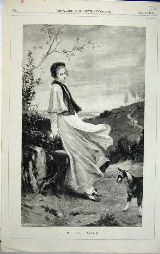 La Bella Capra del Paese della Donna 1882 Sistema le Piante degli Alberi