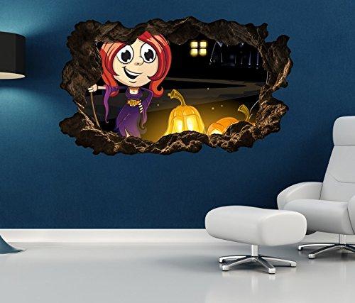ustig Kinderzimmer Kürbis Halloween selbstklebend Wandbild Tattoo Wohnzimmer Wand Aufkleber 11L068, Wandbild Größe F:ca. 140cmx82cm ()