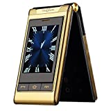 "Unlock Flip Phone Large Numbers - 3.0"" Double Dual Touch Screen Dual SIM"