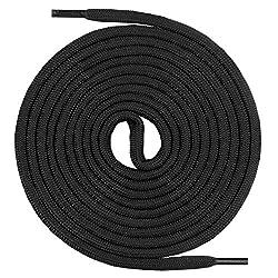 Mount Swiss runde Schnürsenkel für Wanderschuhe, Trekkingschuhe und Arbeitsschuhe - extra reißfest - ø 5 mm Farbe Schwarz- Länge 160cm
