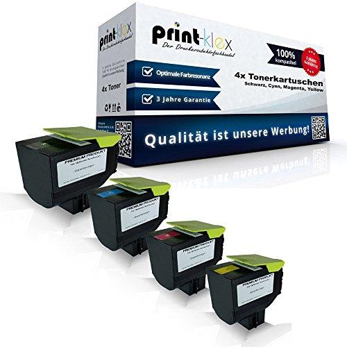 Preisvergleich Produktbild 4x kompatible Tonerkartuschen für Lexmark CX310 CX310 dn CX310 n CX310 Series 802SK 802SC 802SM 802SY Black Cyan Magenta Yellow Sparset KCMY