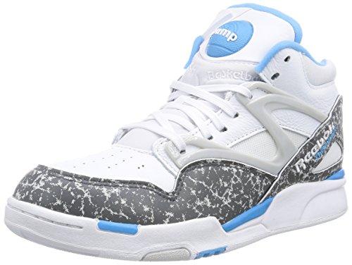 Reebok Pump Omni Lite, Unisex-Erwachsene Sneakers, Weiß (White/Rivet Grey/California Blue/Snowy Grey), 39 EU (Blue Erwachsenen-california Schuhe)