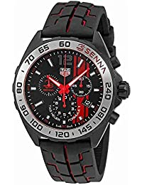 TAG Heuer fórmula 1Negro opalin Dial Mens Reloj cronógrafo caz1019. ft8027