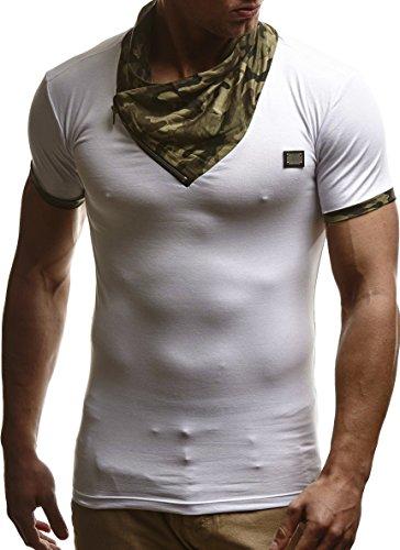 LEIF NELSON Herren T-Shirt Sweatshirt Slim Fit LN630 Weiß