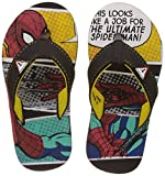 Spiderman Boy's Black and Yellow Flip-Flops and House Slippers - 6 kids UK/India (23 EU)