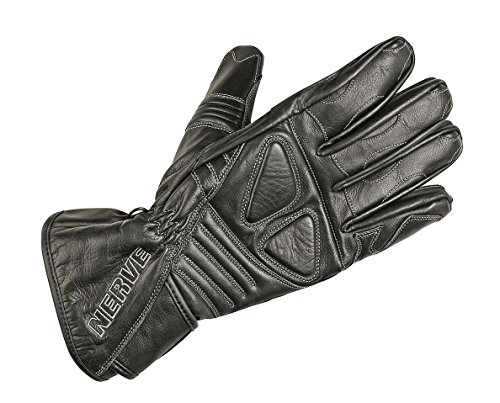 Nerve Guantes de Moto de Cuero Dark Leather