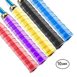 Windwalker S1 5 Stück Overgrip Saugfähig Anti-Rutsch Griffband für Tennisschläger Badminton Squash Paddle Fahrradlenker Lenkrad Baseballschläger Angelrute Mehrfarbig