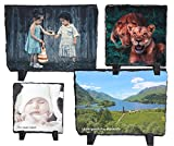 Dogidogs Schiefertafel mit Foto, Schieferplatte Personalisiert, Vier Größen mit Fotodruck (150 x 200 mm)
