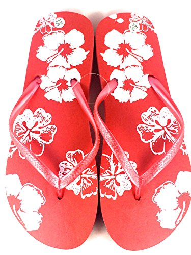 Allaccessories , Tongs pour femme 0 Red Flower Print