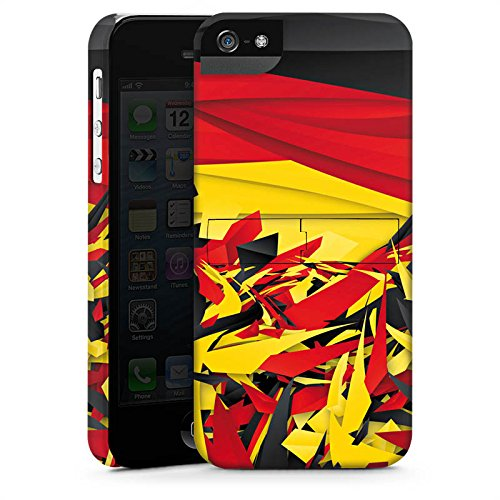 Apple iPhone X Silikon Hülle Case Schutzhülle Deutschland Flagge Muster Premium Case StandUp