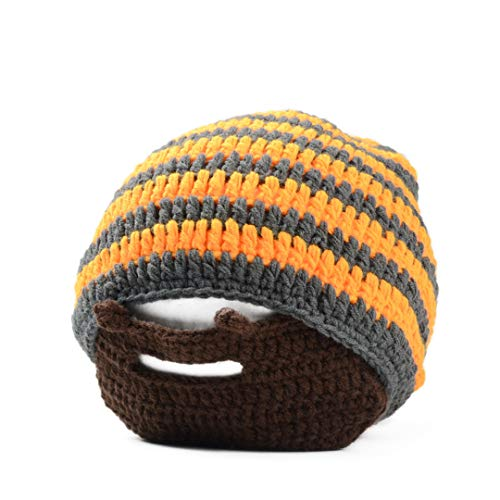 Mens Moustache Mützen Coole Punk Warme Winter Neuheit Hut Häkeln Bart Beanie Gesichtsmaske Ski Wärmer Hut Caps Patchwork Orange Grey Beard