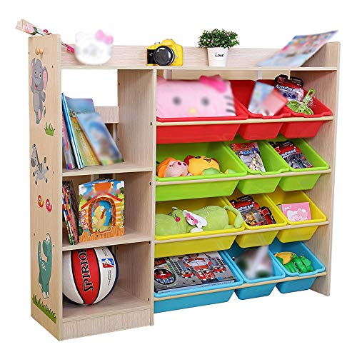 Chengzuoqing Bücherregal Bücherregal Bücherregal Spielen Organizer Boxen Display Kinder Spielzeug Aufbewahrungseinheit Schrank Für Spielzimmer Schlafzimmer Kindermöbel Großes Ablagefach -