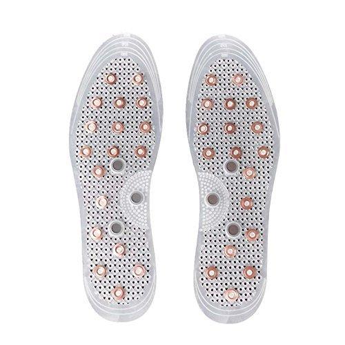 Anti-odeur acupression cuivre Semelles de chaussures de massage magnétique