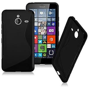 Microsoft Lumia 640 Magic Brand S-Line Black Soft Silicon Back Cover Case