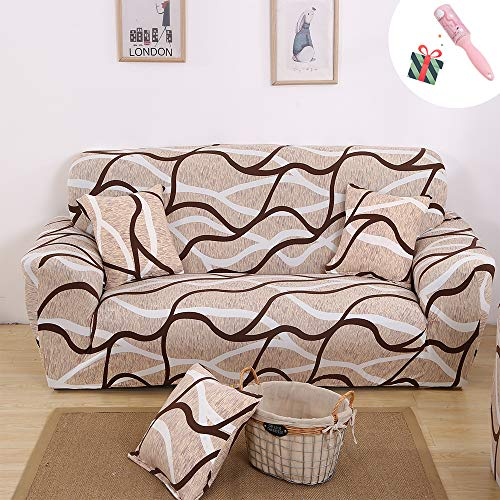 Morbuy-Shop Fundas sofá elegante geometría extraíble lavable tela de estiramiento Pillowcase*1 Bending