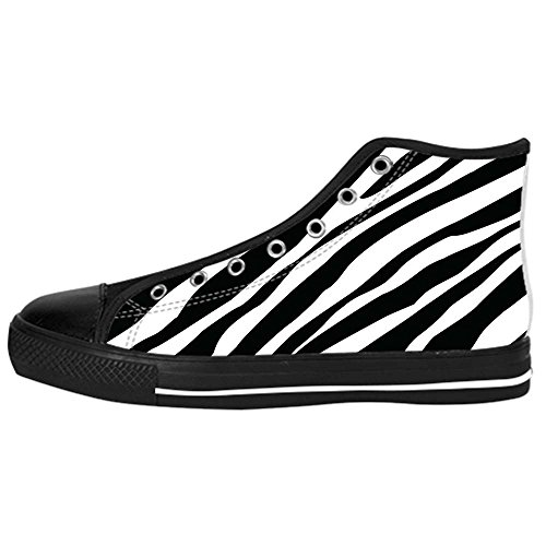 Dalliy zebra stripe Kids Canvas shoes Schuhe Lace-up High-top Footwear Sneakers E