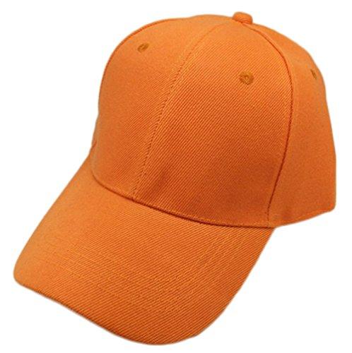 Imagen de leisial  de béisbol de ocio color sólido ajustable del sombrero hats hip hop verano tejido de transpirable para hombre mujer naranja