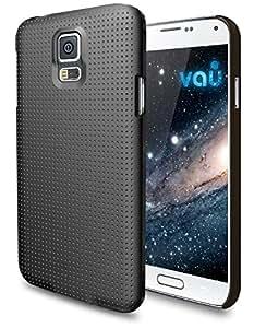 vau SlimShell Samsung Galaxy S5 Schutzhülle, Tasche (harte Rückseite im gepunktetem Galaxy-Stil) matt schwarz