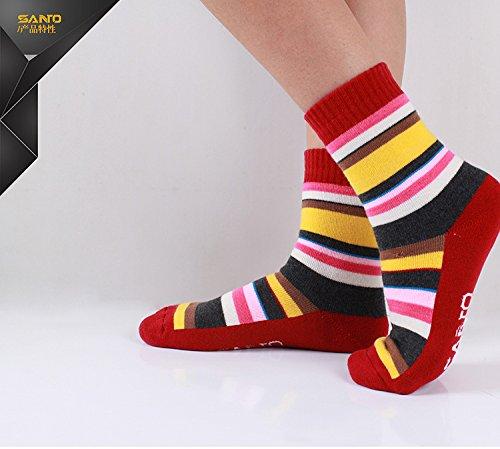 High Performance Ski Socken socks-thermal für Unisex rot -