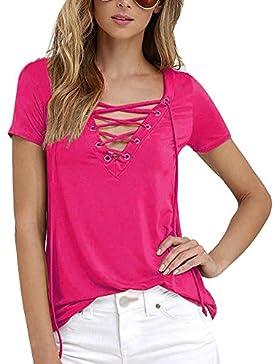 Donna T-Shirt Camicetta Camici