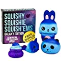Slow Rising GALAXY STARRY JUMBO SQUISHIES PACK in GIFT WORTHY BOX: Galaxy Bunny, Panda, Narwhal, and Emoji Poo Kawaii Soft Squishy Toys & BONUS Stickers Come With the Squishys!