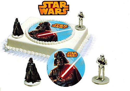 Tortendeko Star Wars 3 teilig Tortenaufleger Kindergeburtstag Kuchen Deko Junge