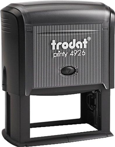 Trodat Textstempel Printy 4926/4926 7-zeilig 75x38mm schwarz Stempel 75 x 38 mm