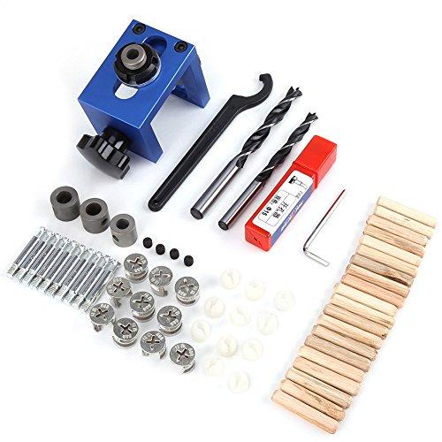 Holz Dübel Loch Jig Bohrer, 8mm / 10mm Bohren Guide Kit Holzbearbeitung Schreiner Positioner Locator Werkzeug