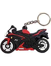 Sharddha Yamaha F1 Bike Logo Synthetic / Rubber Bike Keychain / Keyring / Key Ring / Key Chain (Red/Black/White)