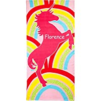 TeddyTs Personalised Magical Rainbow Unicorn Beach Towel