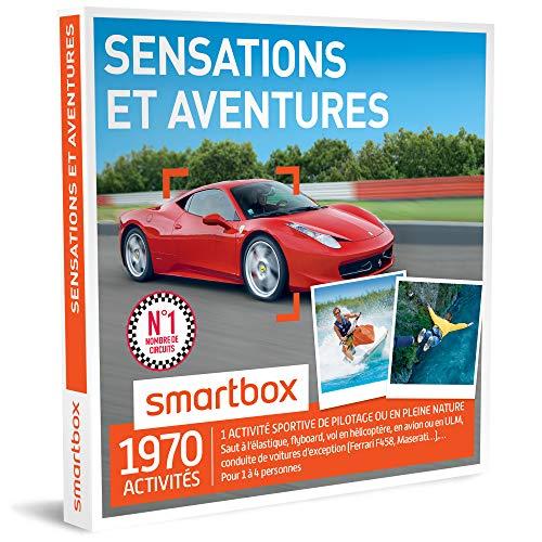 SMARTBOX - Coffret Cadeau - SENSATIONS ET AVENTURES - 1820 activités : conduite de...