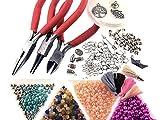 Perlen Armband Set zum DIY Schmuck machen von Vintageparts, über 1000 Teile mit Zangen