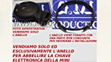 G.M. Production -MR Nero- Solo Anello Ring Decorativo Cromato per Guscio Chiave Telecomando BMW MINI JCW, Cooper, Countryman - Guardare Foto