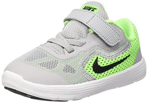Nike Revolution 3 (Tdv), Scarpe Prima Infanzia (1-10 Mesi) Bambino, Verde (Voltage Green/Blck-Wlf Gry-Vlt), 23 1/2 EU