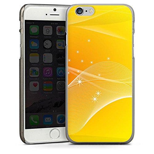 Apple iPhone 4 Housse Étui Silicone Coque Protection Jaune Soleil Soleil CasDur anthracite clair