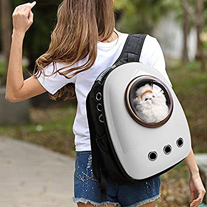 Dulcii Pet Carrier,Cat Dog Puppy Travel Hiking Camping Pet Carrier Backpack, Space Capsule Bubble Design,Waterproof Soft… 3