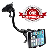#10: Prithvi™ Car Mount Adjustable Car Phone Holder Universal Long Arm, Windshield for Smartphones - Black