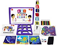 Toiing 10-in-1 Play and Learn Kit | 10 Educational Activities for Basic Skills| Stacking, Sorting, Shapes, Alp