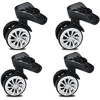 Ruedas giratorias, ruedas giratorias de goma de 55 mm, ruedas giratorias para ruedas de