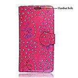 GSDSTYLEYOURMOBILE {TM} HTC Desire 510 PU Flip Leder HÜLLE ETUI Tasche Schale + Stylus (Pink Diamond Book)