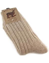Fellhof Alpaka 2712-BEIG Unisex Socken Dick