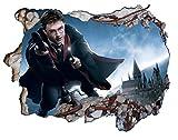 3D-Wandaufkleber V0104, Motiv: Harry Potter Hogwarts, selbstklebend, Maße: 1000mm breit x 600mm hoch, Gr.: L