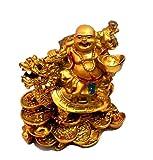 Ankita Gemstones Golden Laughing Buddha ...