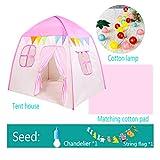 Children tent Tenda da Gioco Princess Castle, taccuino Pieghevole per Bambini, Bambine, Giocattolo per Bambini, Interno ed Esterno, Casetta / 51.18 * 51.18 * 39.37 Pollici